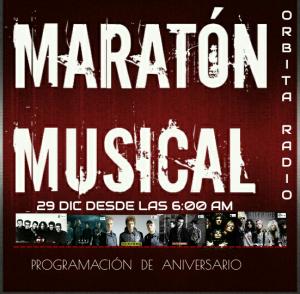 PROGRAMACION DE ANIVERSARIO - MARATON MUSICAL